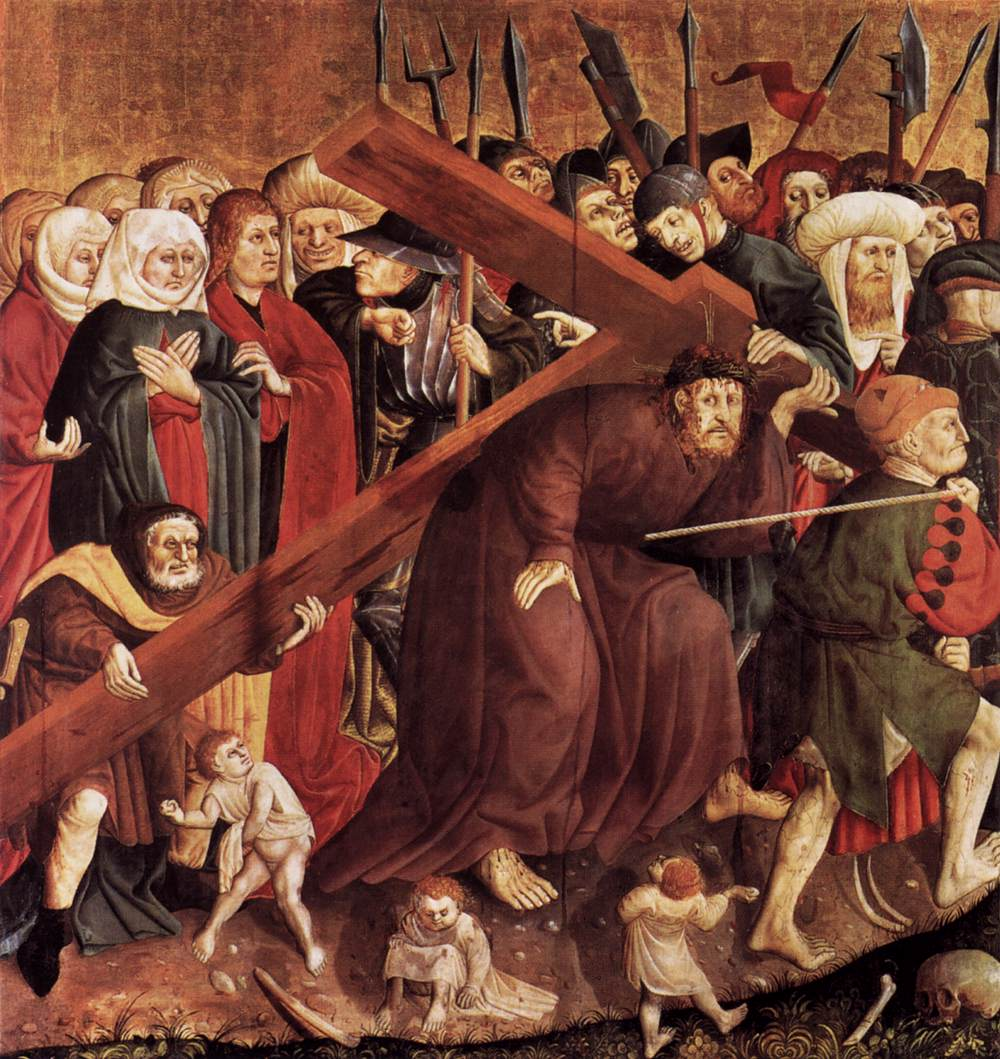 Jesus Carrying The Cross Painting Painting by Hans Multscher