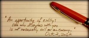 oct 2 2012 civility