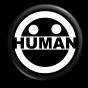 new human logo button black