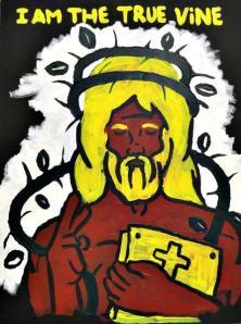 i am the true vine jesus painting