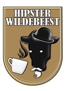 hipster wildebeest logo