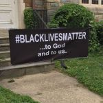 black lives matter banner at crib