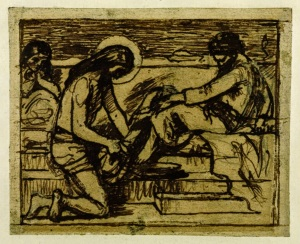 Sketch for 'Jesus Washing Peter's Feet' c.1851